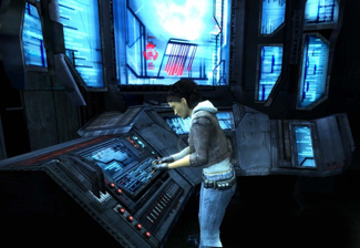 Alyx Vance at a Combine console