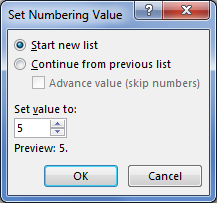 Figure 3. The Ultimate Numbering Control dialog box.