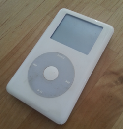 Figure 2. My first iPod. Not the original iPod, but the second or third model.