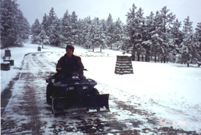 Not a DrivewayCam picture, but a photo of me on the 4-by used to plow our 700-foot driveway.