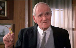 Desmond Llewelyn as Q from many of the James Bond films.