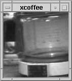 The Trojan Room Coffee Pot cam, typical image. (Stolen from Wikipedia.)