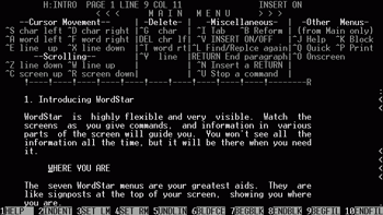 Figure 2. Wordstar.