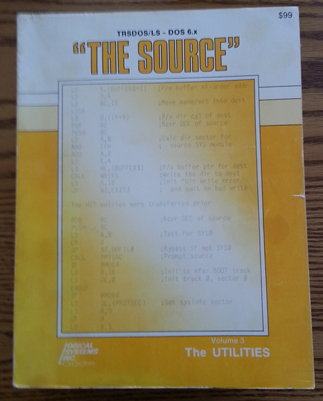 The Source, a three volume set fully documenting the TRS-DOS 6 operating system.