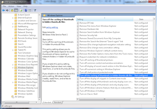 Figure 1. The Local Group Policy Editor window.