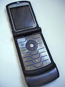 The Motorola RAZR phone, 2004.