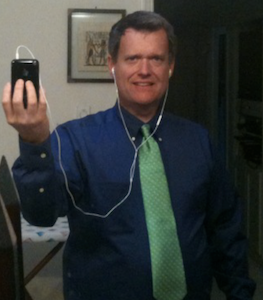 Figure 1. The author doing the mirror selfie, fully clothed.