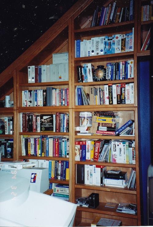 Figure 2. Bookshelves on the south wall.