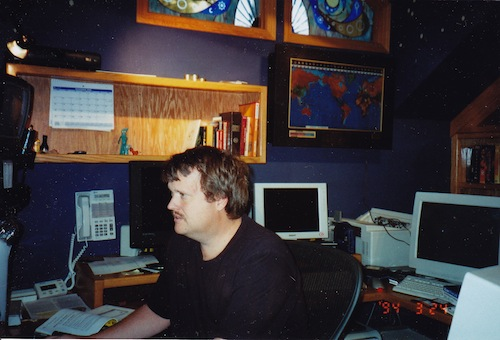 Figure 4. The author pretending to work.