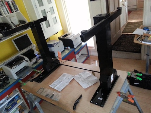 Figure 5. Attaching and assembling the WorkFit legs.