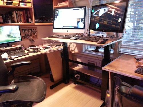 Figure 6. My standing desk workstation.
