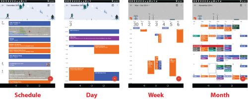 Figure 1. The updated Calendar app's presentations.