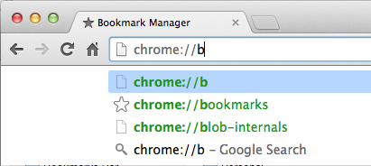 Figure 1. Discover Chrome internals, thanks to AutoComplete.