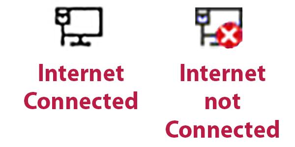 Figure 2. Internet notification icons (Windows 10 versions).