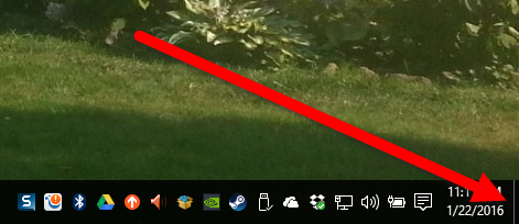 Figure 1. The Peek Desktop button's location.