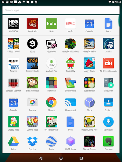 Figure 1. The Apps drawer on my Nexus 9 tablet.