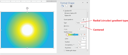 Figure 1. Radial gradient example.