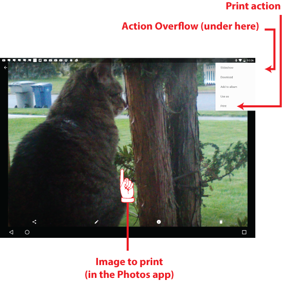 Figure 2. Choosing an image to print on your mobile device.