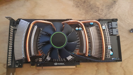 Figure 2. The old graphics card.